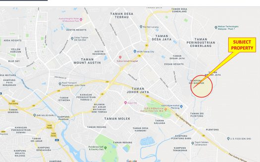 Plentong Zoning Industrial Land for Sales